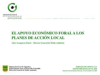 Diputación Foral de Gipuzkoa Departamento para el Desarrollo Sostenible