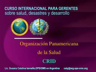 Organización Panamericana  de la Salud CRID