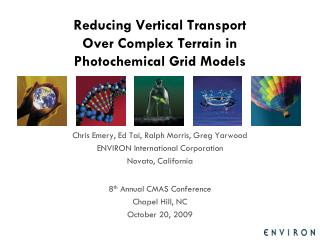 Reducing Vertical Transport Over Complex Terrain in Photochemical Grid Models