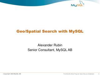 Geo/Spatial Search with MySQL