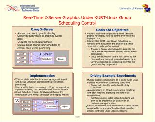 Real-Time X-Server Graphics Under KURT-Linux Group Scheduling Control