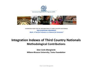 Integration Indexes of Third Country Nationals  Methodological Contributions Gian Carlo Blangiardo