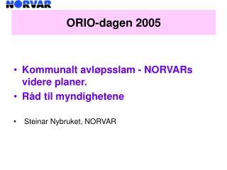 ORIO-dagen 2005