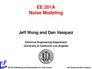 EE 201A Noise Modeling