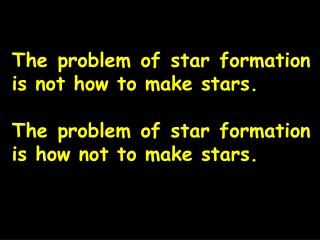 The problem of star formation is not how to make stars.
