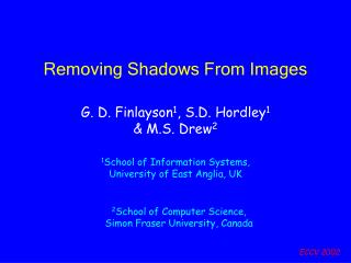 Removing Shadows From Images