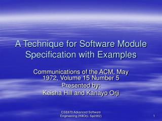 A Technique for Software Module Specification with Examples