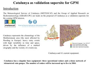 Catalunya as validation supersite for GPM