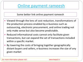 Best Tips of online payment Rameesh