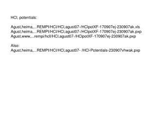 HCl, potentials: Agust,heima,...REMPI/HCl/HCl,agust07-/HClpotXF-170907ej-230907ak.xls