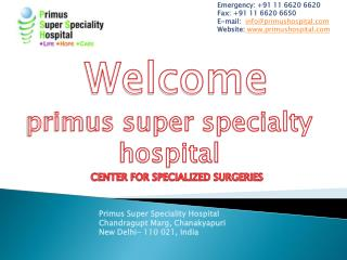 Primus Super Speciality Hospital best ivf centre in delhi