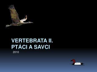 Vertebrata  II. Ptáci a Savci