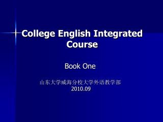 College English Integrated Course