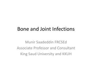 Management of Septic Arthritis