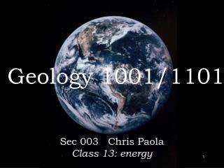 Geology 1001/1101