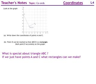 What is special about triangle ABC ? If we just have points A and C what rectangles can we make?