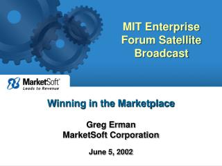 MIT Enterprise Forum Satellite Broadcast