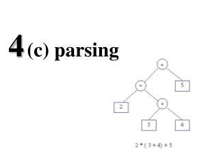 4 (c) parsing