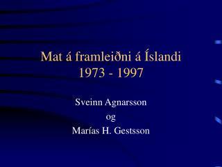 Mat á framleiðni á Íslandi 1973 - 1997