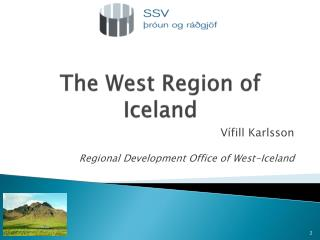 The West Region of Iceland