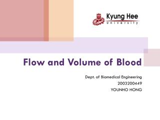 Flow and Volume of Blood
