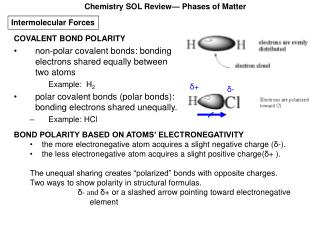 Chemistry SOL Review— Phases of Matter