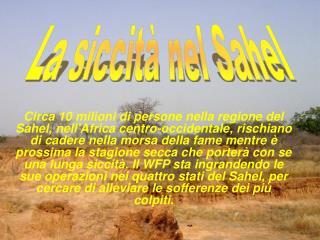 La siccità nel Sahel
