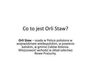 Co to jest Orli Staw?