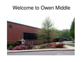 Welcome to Owen Middle