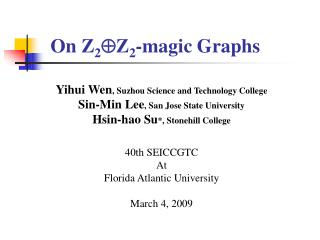 On  Z 2  Z 2 -magic Graphs