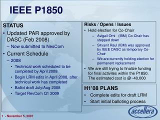 IEEE P1850