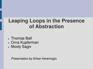 Leaping Loops in the Presence of Abstraction