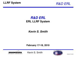 R&D ERL ERL LLRF System