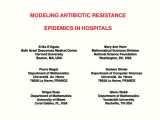 MODELING ANTIBIOTIC RESISTANCE  EPIDEMICS IN HOSPITALS