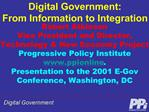 Digital Government: From Information to Integration