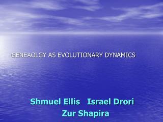 GENEAOLGY AS EVOLUTIONARY DYNAMICS