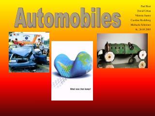 Automobiles Paul Rust David Urban