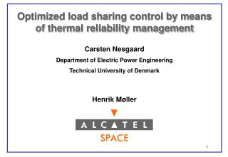 Optimized load sharing control by means              of thermal reliability management