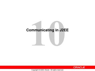 Communicating in J2EE