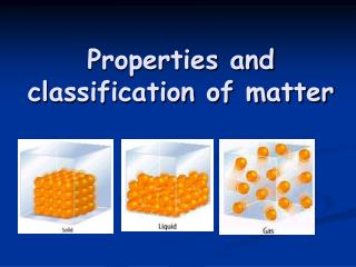 Properties and classification of matter