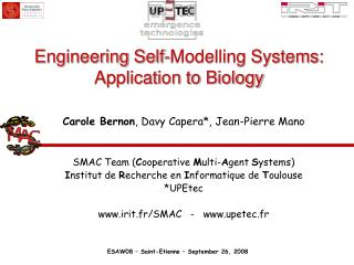 Engineering Self-Modelling Systems: Application to Biology