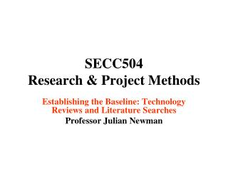 SECC504 Research & Project Methods