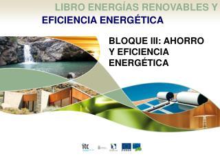 LIBRO ENERG�AS RENOVABLES Y  EFICIENCIA ENERG�TICA