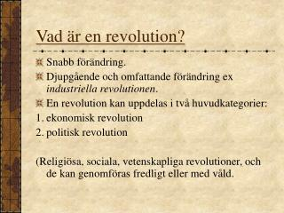 Vad är en revolution?
