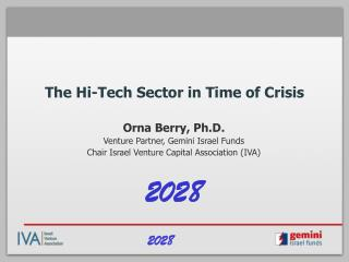 The Hi-Tech Sector in Time of Crisis