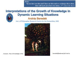 Interpretations of the Growth of Knowledge in Dynamic Learning Situations