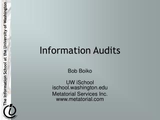 Information Audits