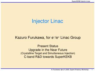 Injector Linac
