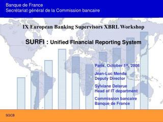 Banque de France Secr tariat g n ral de la Commission bancaire