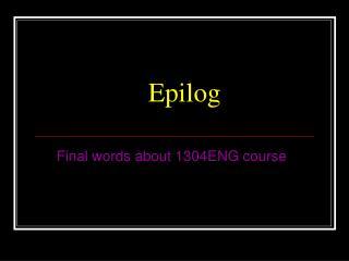 Epilog